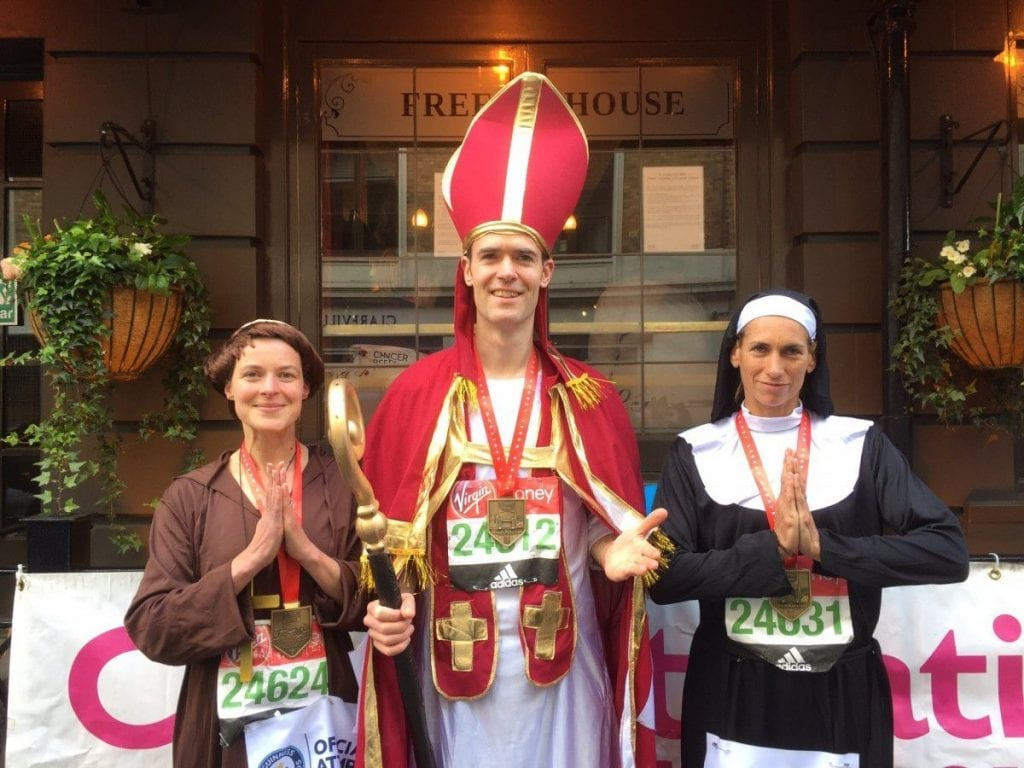 Bishop runs marathon Guinness Book of World Records