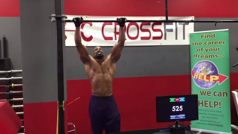 Mark Jordan most pull ups record