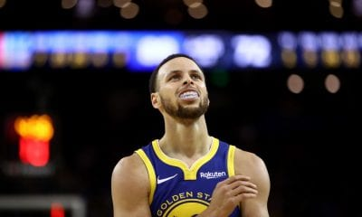OAKLAND, CALIFORNIA - APRIL 05: Stephen Curry #30 of the Golden State Warriors in action against the Cleveland Cavaliers at ORACLE Arena on April 05, 2019 in Oakland, California. NOTE TO USER: User expressly acknowledges and agrees that, by downloading and or using this photograph, User is consenting to the terms and conditions of the Getty Images License Agreement. (Photo by Ezra Shaw/Getty Images)