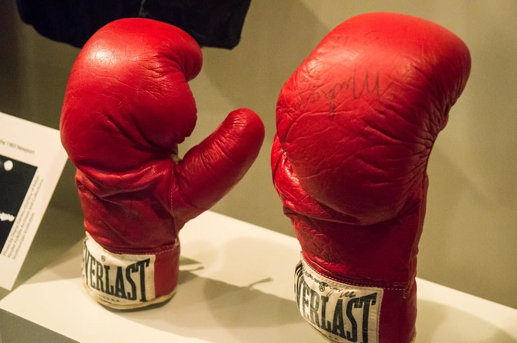 ali fight of century gloves
