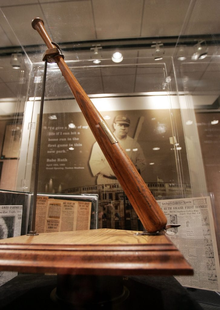 babe ruth 60th home run bat
