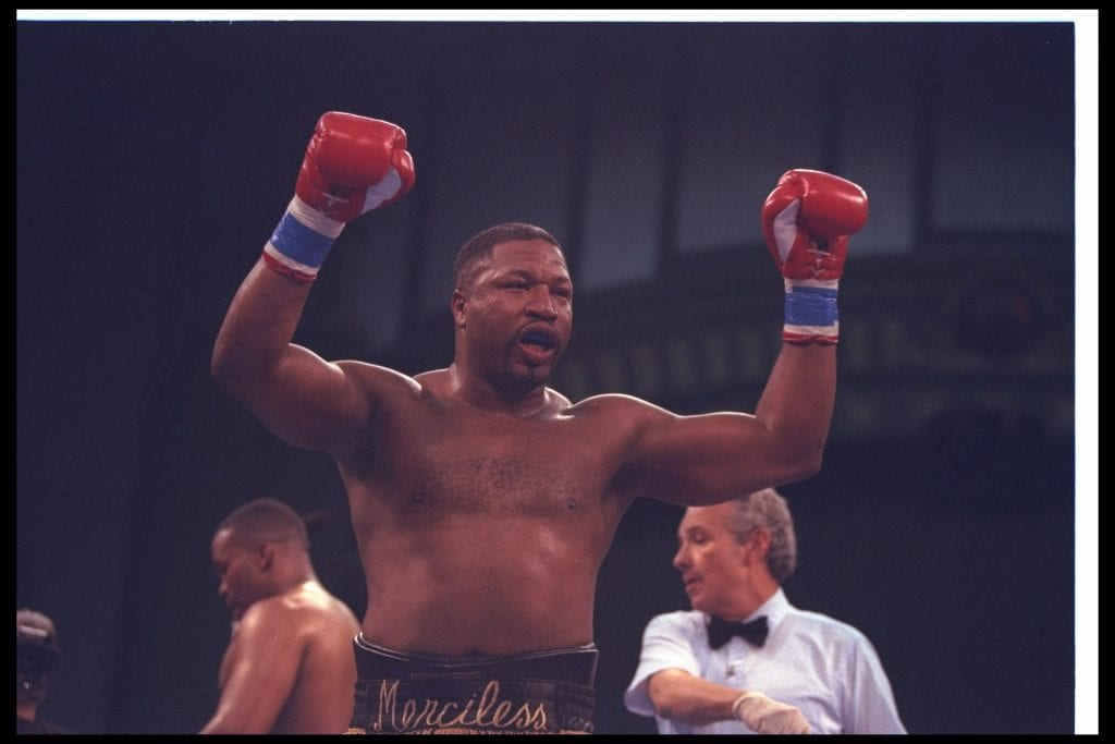 Ray Mercer boxing