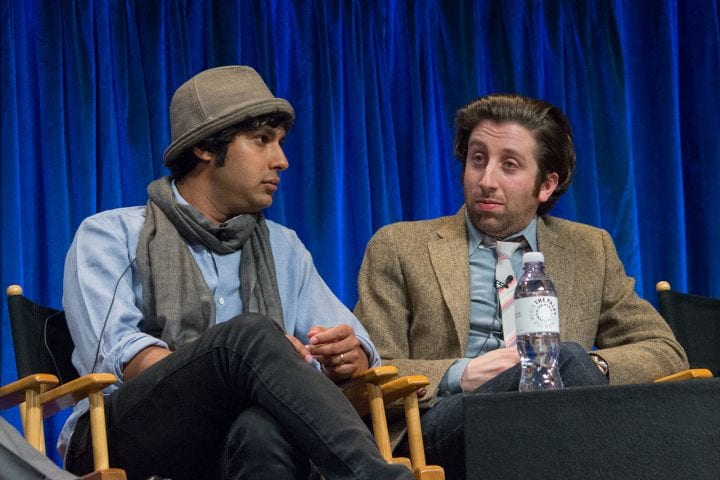 simon helberg answering some questions on stage