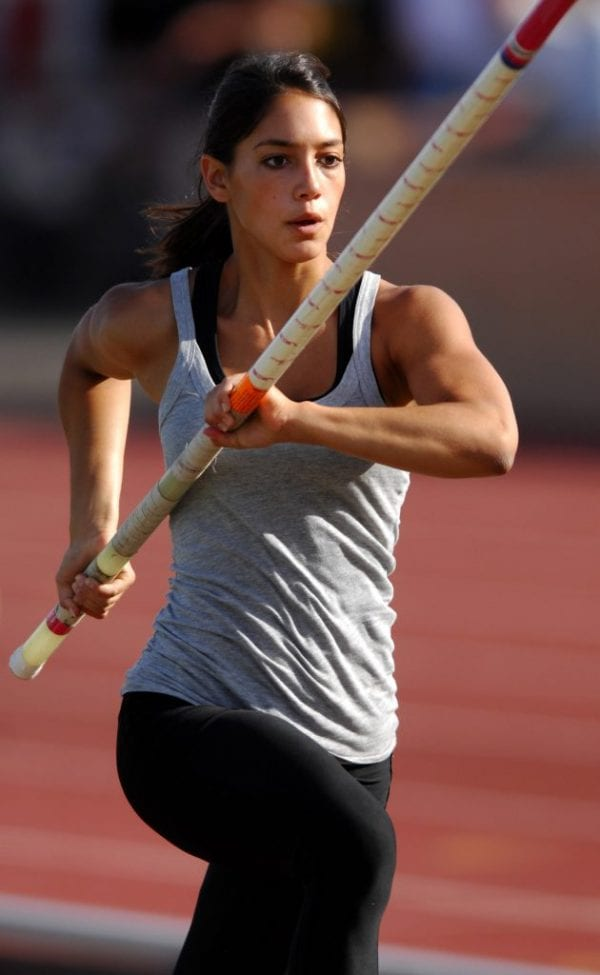 Allison Stokke prepares to jump
