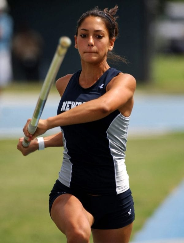 Newport Harbor High's Allison Stokke sprints down the runway