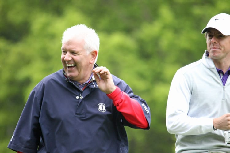 Rory McIlroy and his father Gerry McIlroy