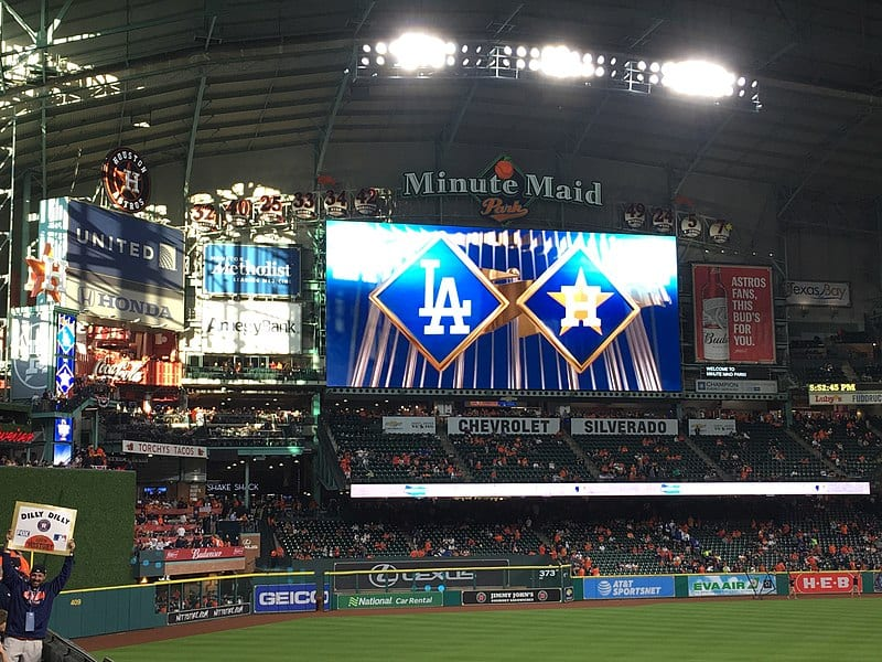 2017 World Series between the Los Angeles Dodgers and Houston Astros