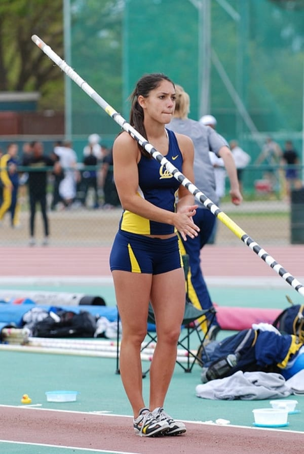Allison Stokke competes for Cal Berkeley