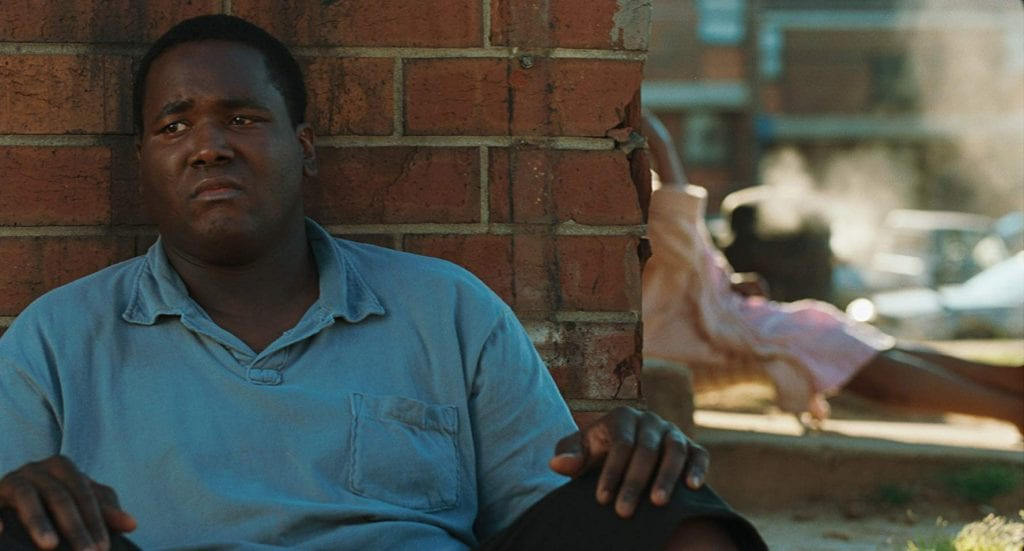 "Quinton Aaron portrays Michael Oher in ""The Blind Side"""