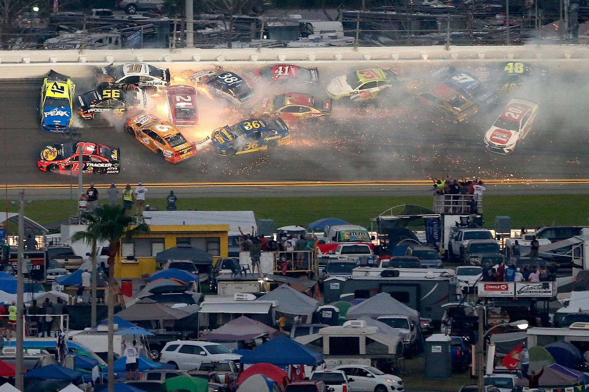 nascar, crashes, car racing