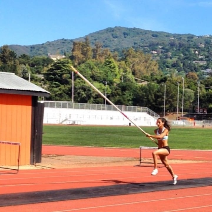 Allison Stokke trains with hopes to compete in the Olympics