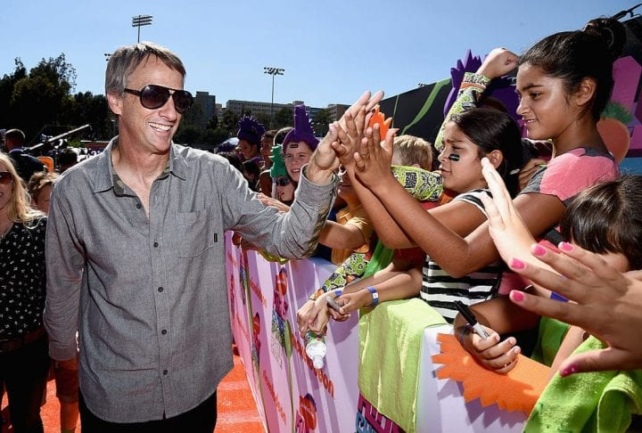 Skateboarder Tony Hawk attends Nickelodeon Kids' Choice Sports Awards 2014 at UCLA's Pauley Pavilion on July 17, 2014 in Los Angeles, California.