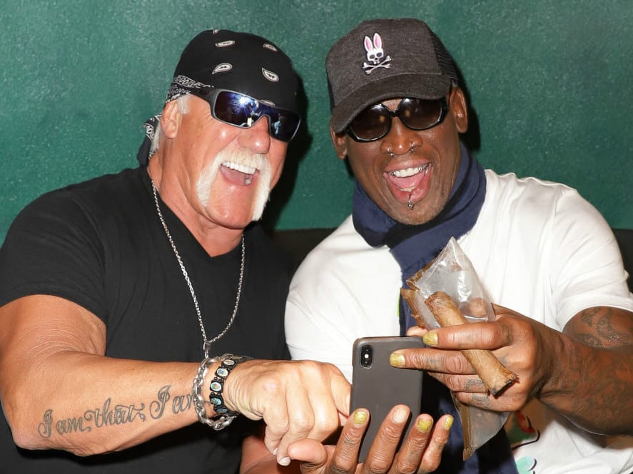 Hulk Hogan and Dennis Rodman