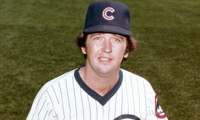 Bruce Sutter of the Chicago Cubs poses for a season portrait.