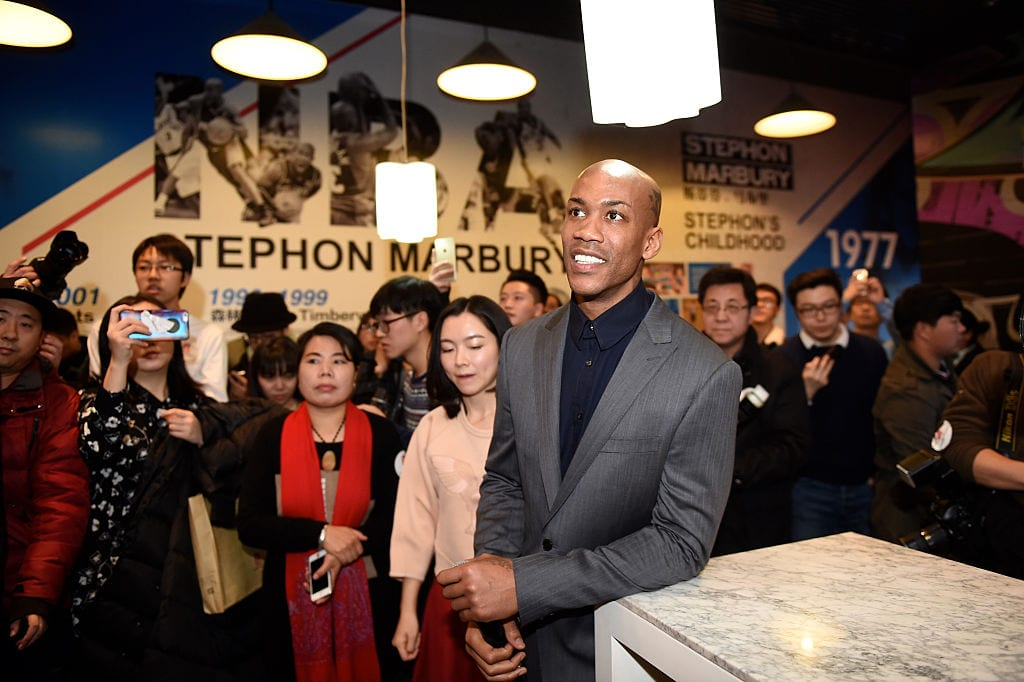 CBA star and former NBA player Stephon Marbury visits Marbury's Home exhibition