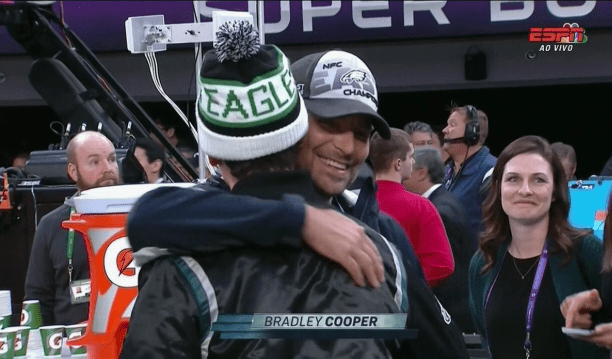 bradley cooper eagles fan
