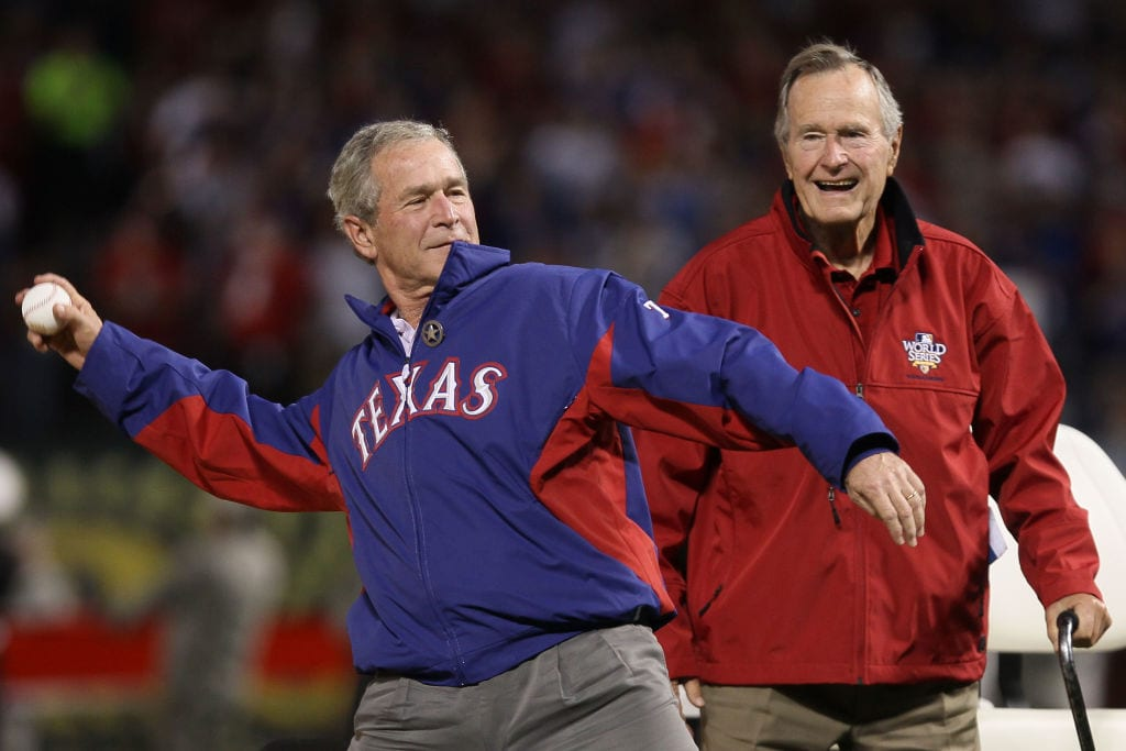 george bush texas rangers