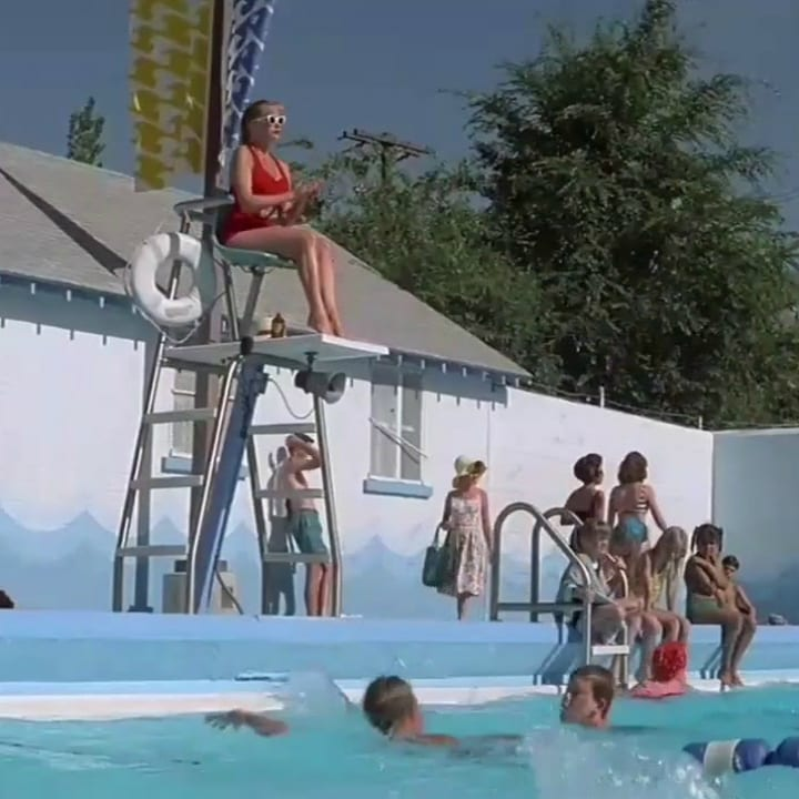 """The Sandlot"" pool scene"