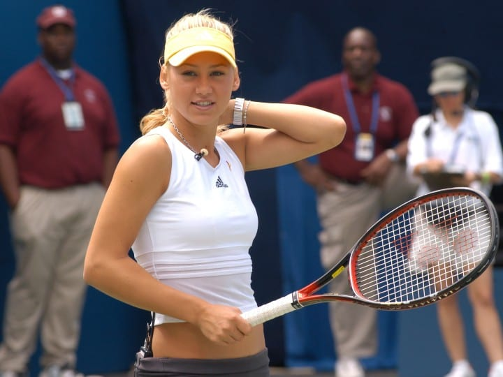 Anna Kournikova during 2003 US Open - Arthur Ashe Kids Day