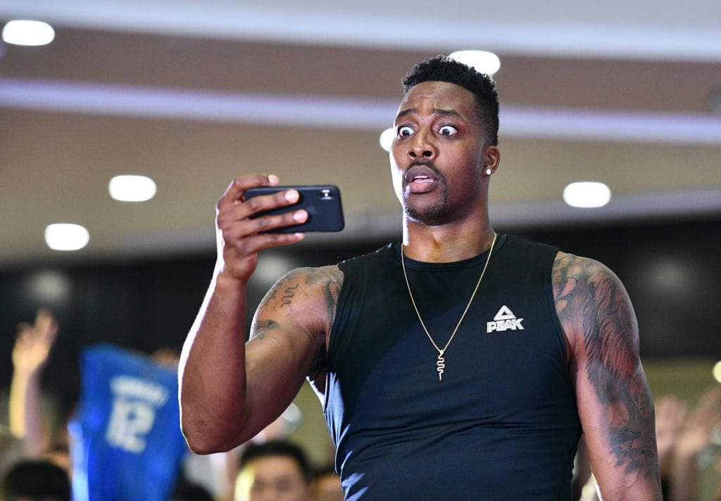 Player Dwight Howard attends fan meeting