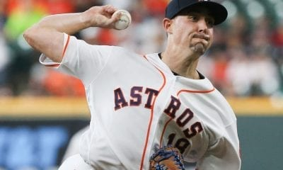 Aaron Sanchez of the Houston Astros pitches against the Seattle Mariners