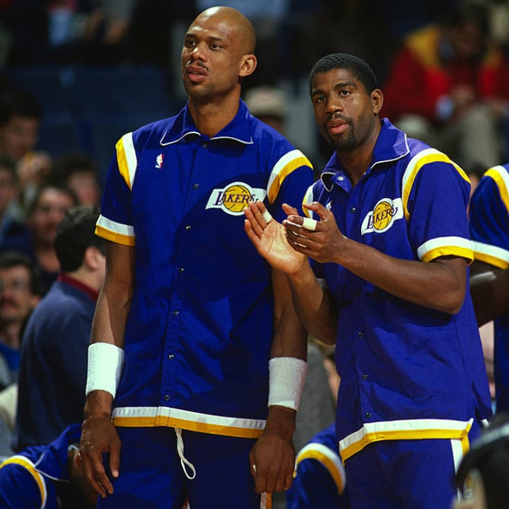 Kareem Abdul-Jabbar and Magic Johnson