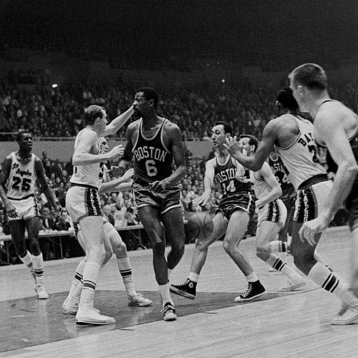 Bill Russell and Bob Cousy
