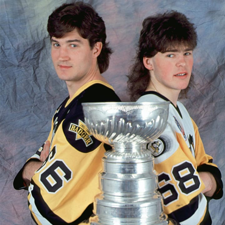Mario Lemieux and Jaromir Jagr
