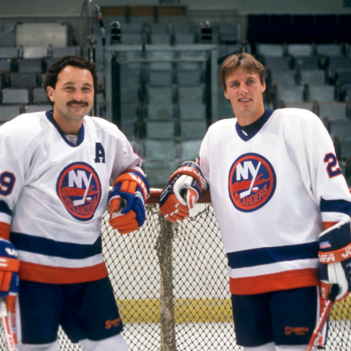 Bryan Trottier and Mike Bossy
