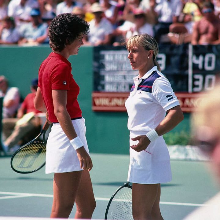 Martina Navratilova and Pam Shriver