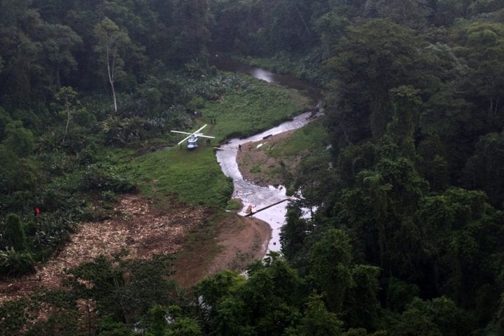 La Mosquitia helicopter archaeological site Honduras the lost white city