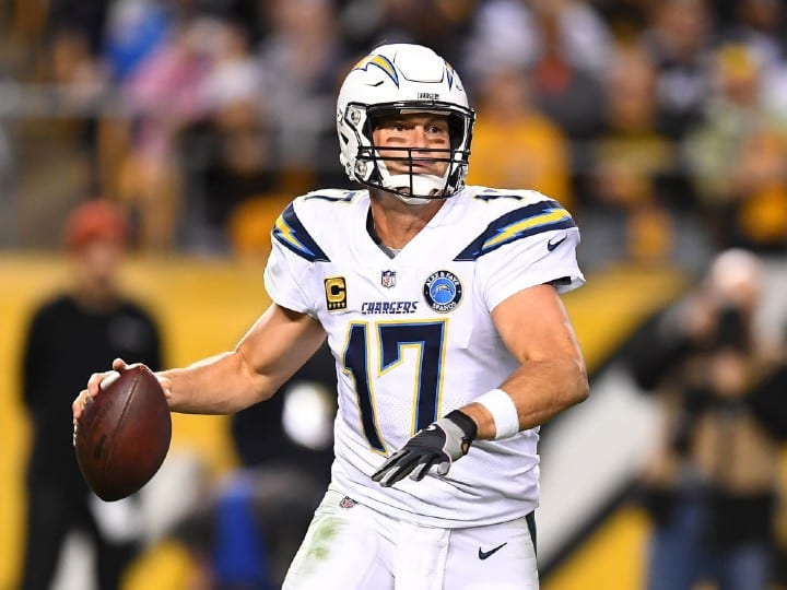 Philip Rivers #17 of the Los Angeles Chargers in action during the game against the Pittsburgh Steelers