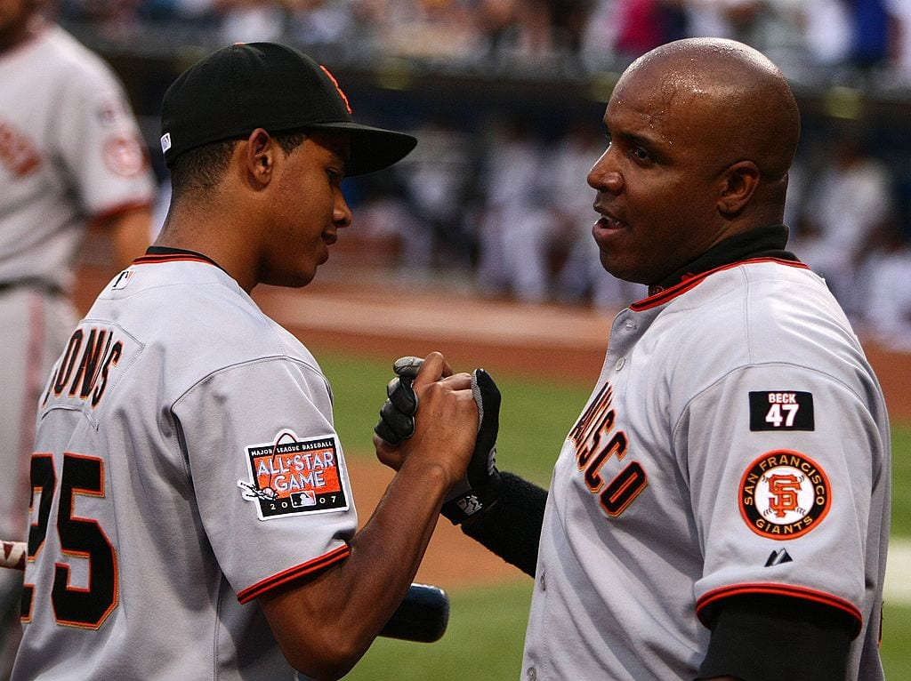 barry bonds and son san francisco giants