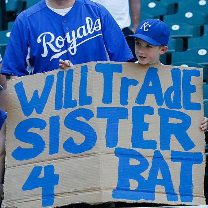 Funny baseball sign