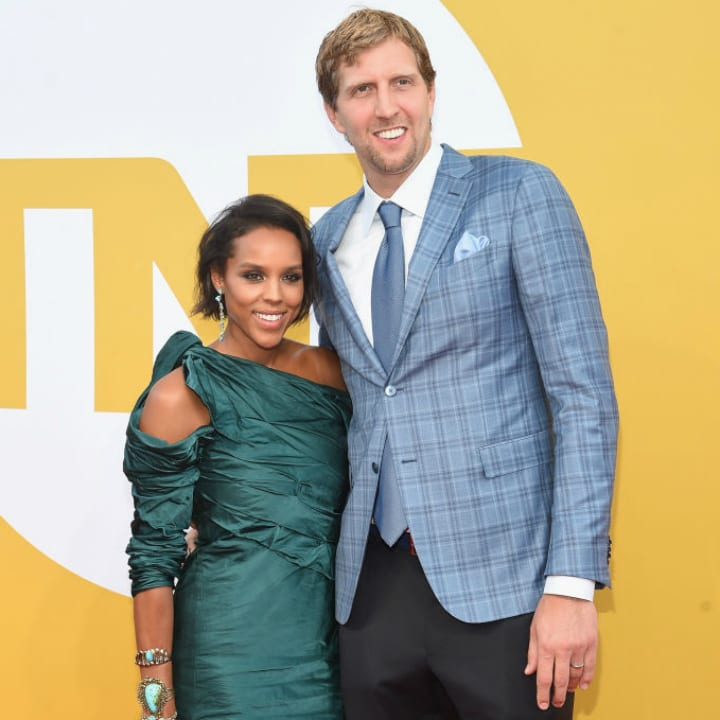 Dirk Nowitzki and Jessica Olsson