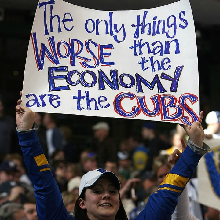 Cubs fan sign