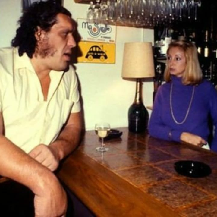 Andre the Giant and Jean Christiansen
