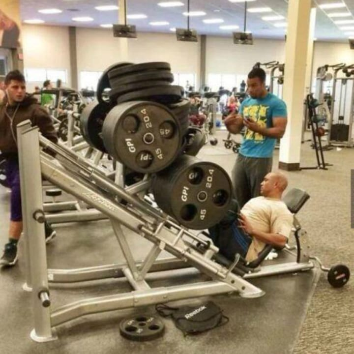 Funny gym photo weights