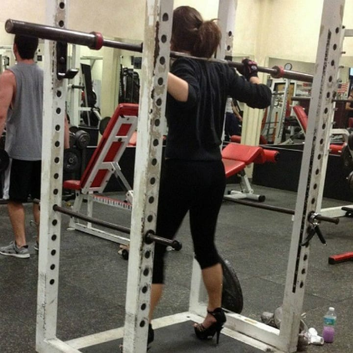 Funny gym photo high heels
