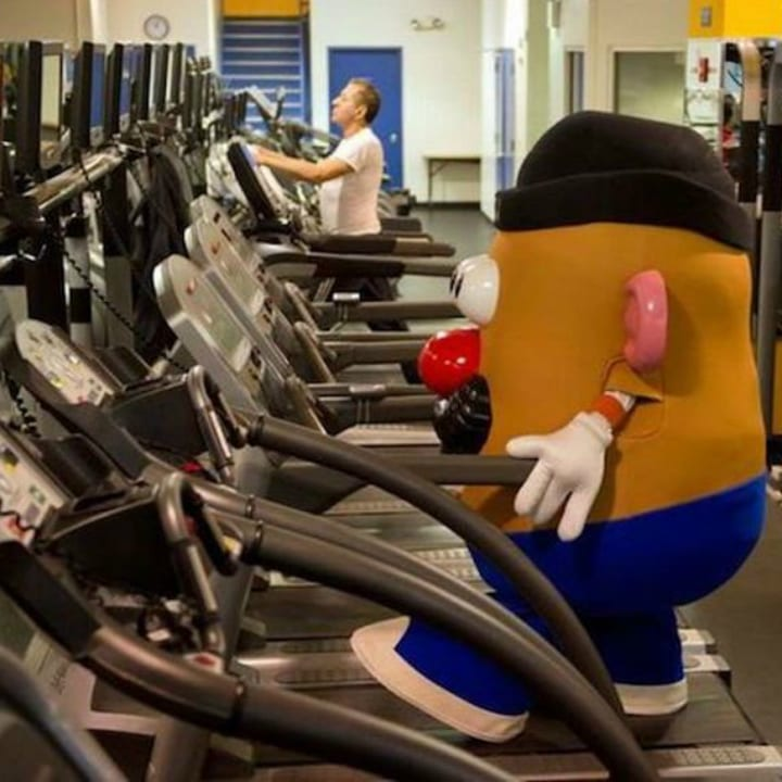 Funny gym photo Mr. Potato Head