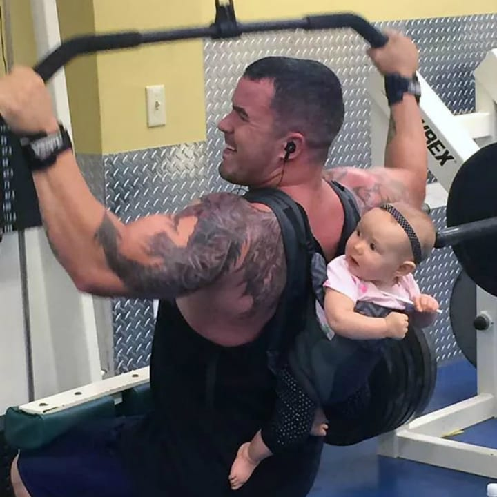 Funny gym photo baby