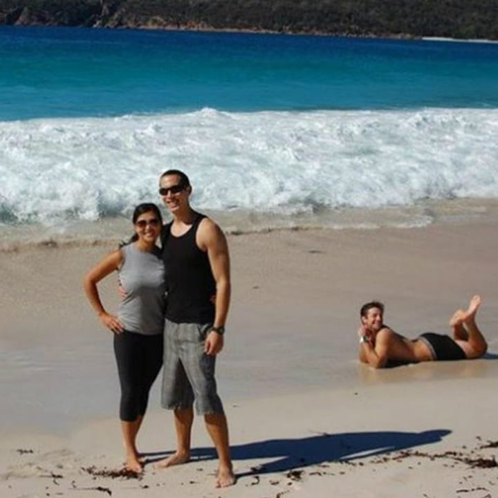 Beach photobomb
