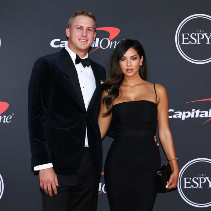 Jared Goff and Christen Harper