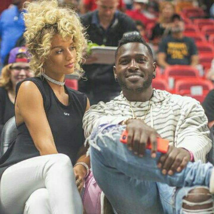 Antonio Brown and Jena Frumes