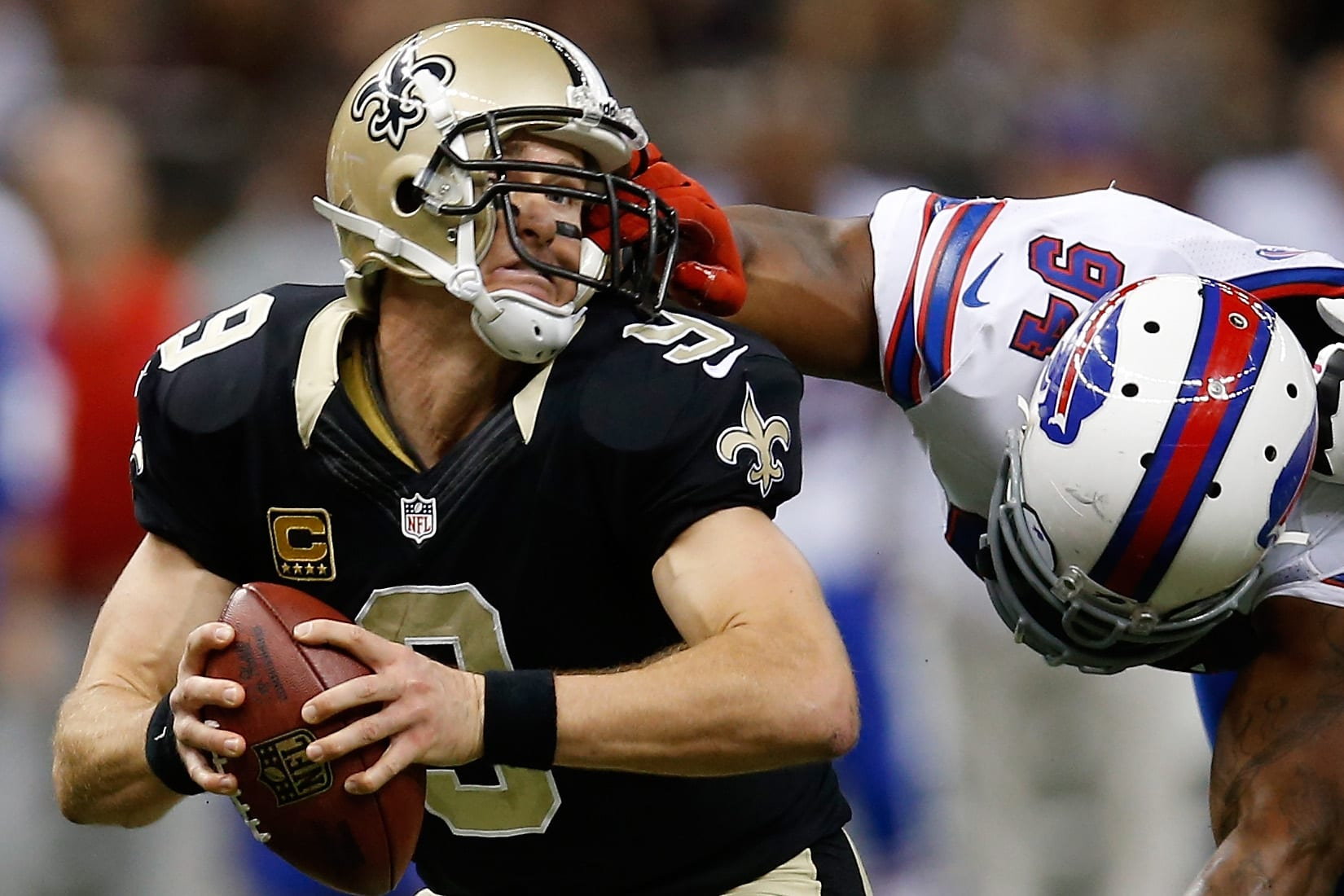 drew brees facemask