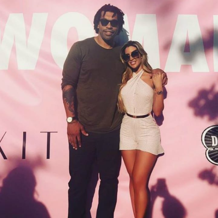Julius Peppers and Claudia Sampedro