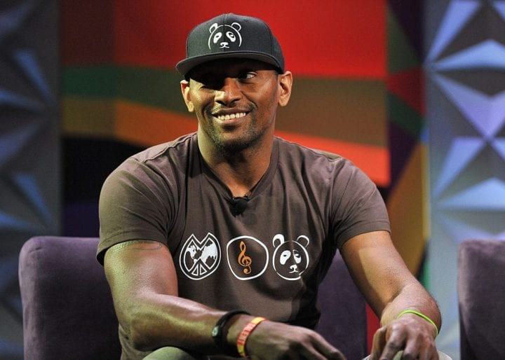 NBA player Metta World Peace speaks at the BET NEWS CONVERSATION: Mental Health in the Black Community panel