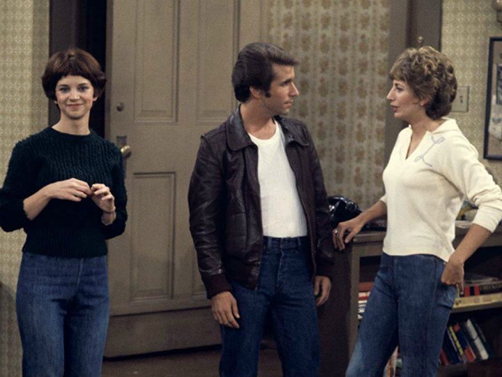 the fonz with Laverne and shirley