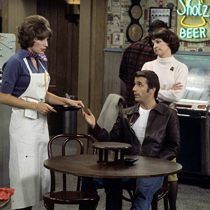 Laverne and Shirley on Happy Days