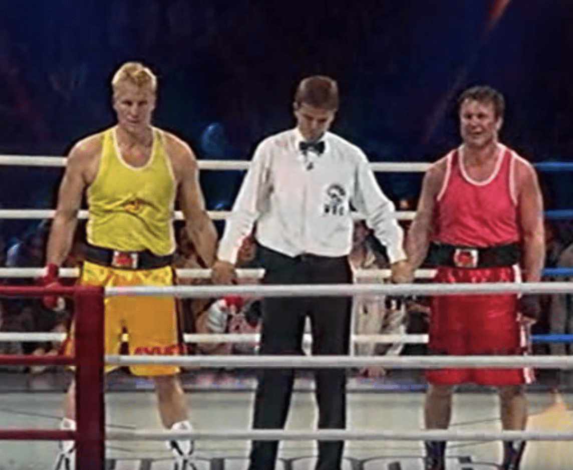 Dolph Lundgren celebrity boxing match